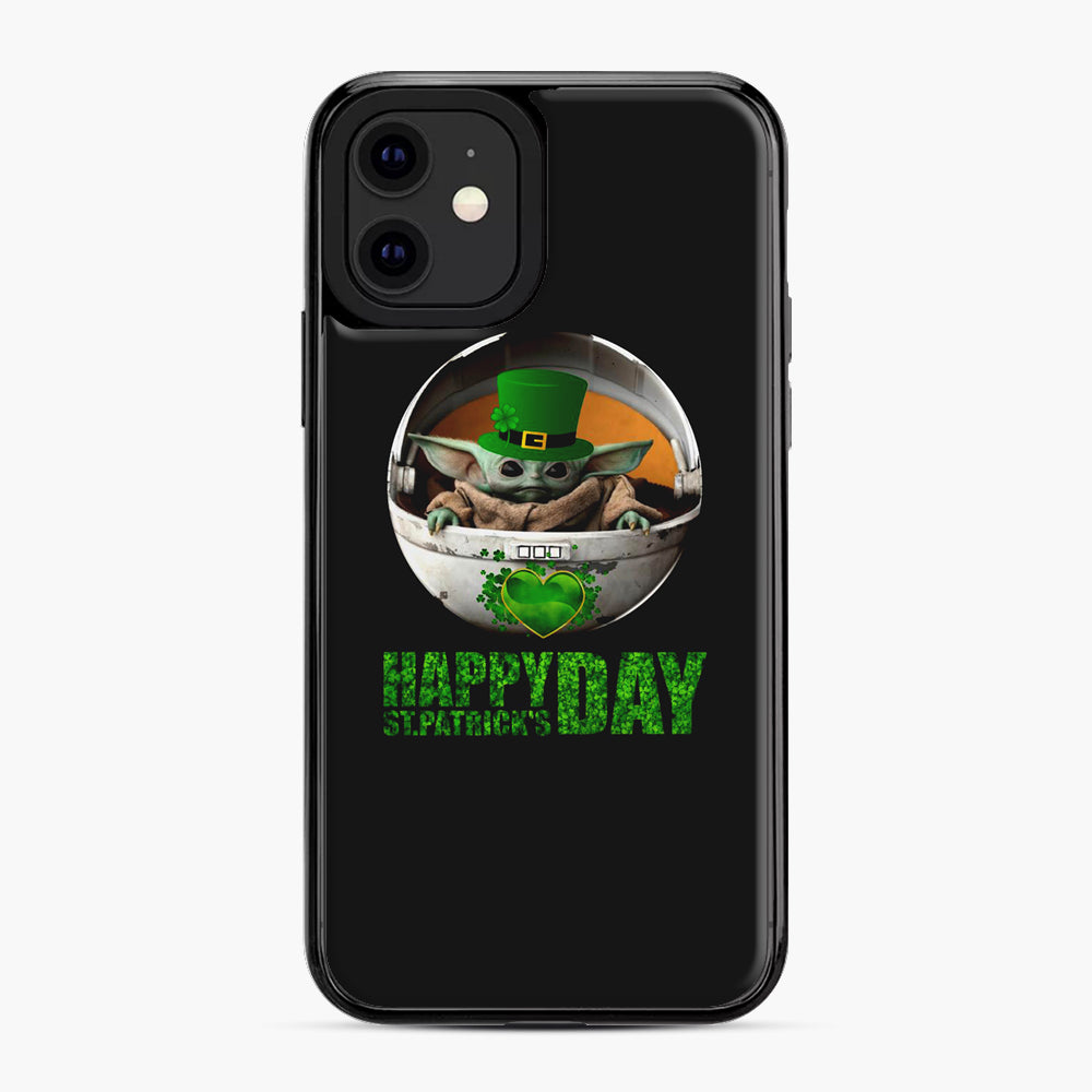 Baby Yoda Happy St Patrick's Day iPhone 11 Case, Black Plastic Case | Webluence.com
