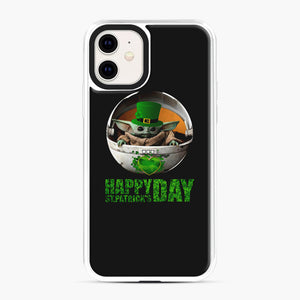 Baby Yoda Happy St Patrick's Day iPhone 11 Case, White Plastic Case | Webluence.com