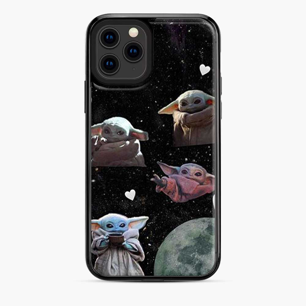 Baby Yoda In Galaxy Moon iPhone 11 Pro Case