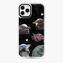 Load image into Gallery viewer, Baby Yoda In Galaxy Moon iPhone 11 Pro Case