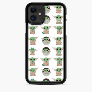 Baby Yoda Meme Cute Pattern iPhone 11 Case
