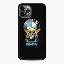 Load image into Gallery viewer, Baby Yoda hug BMW iPhone 11 Pro Max Case, Black Rubber Case | Webluence.com