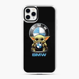 Baby Yoda hug BMW iPhone 11 Pro Max Case, White Plastic Case | Webluence.com