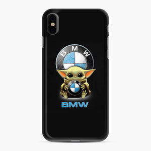 Baby Yoda hug BMW iPhone XS Max Case, Black Rubber Case | Webluence.com