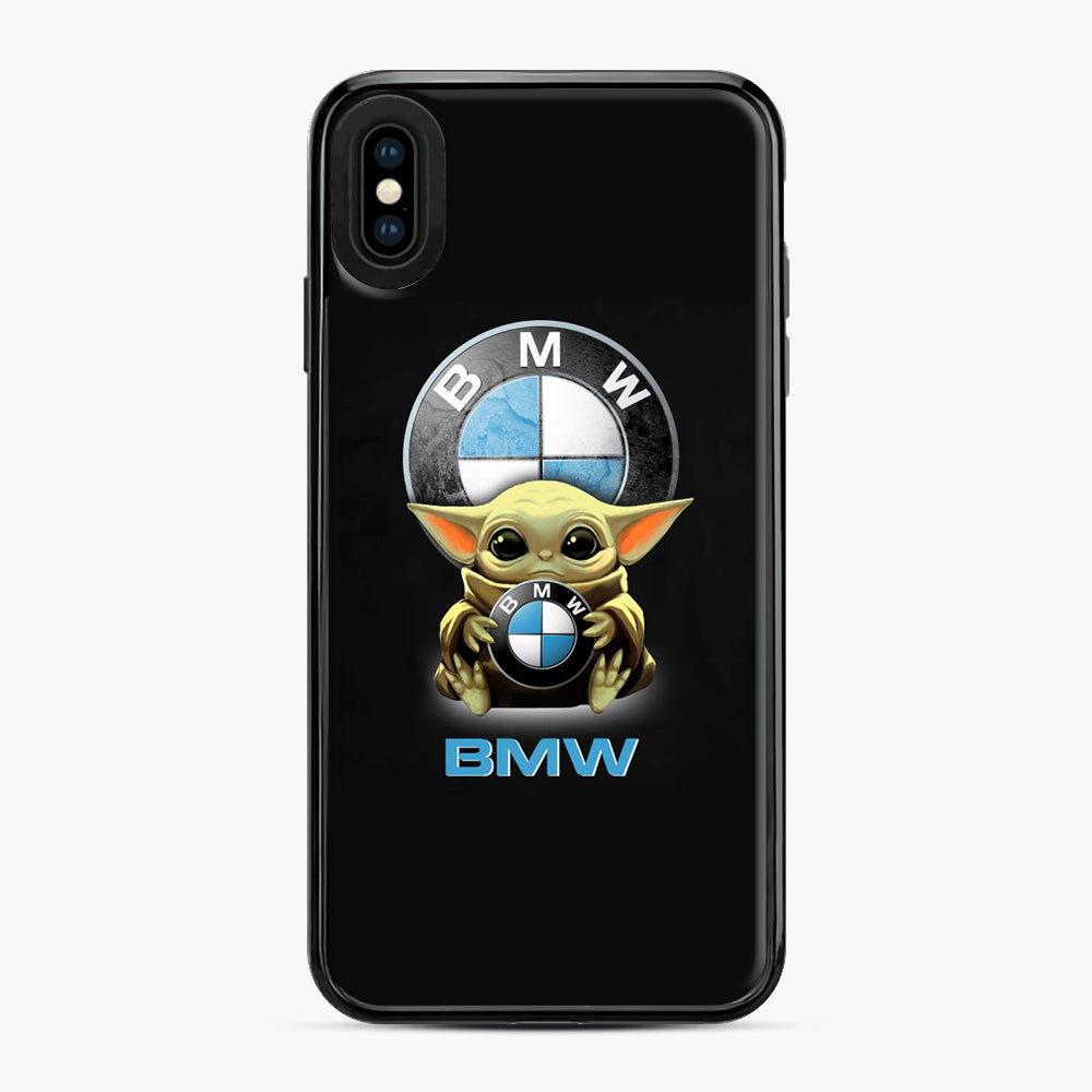 Baby Yoda hug BMW iPhone XS Max Case, Black Plastic Case | Webluence.com
