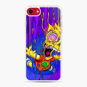 Bart Simpson iPhone 7 / 8 Case, White Plastic Case