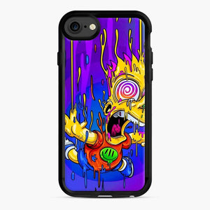 Bart Simpson iPhone 7 / 8 Case, Black Rubber Case