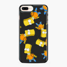 Load image into Gallery viewer, Bart Simpson iPhone 7 Plus/8 Plus Case, Black Plastic Case | Webluence.com