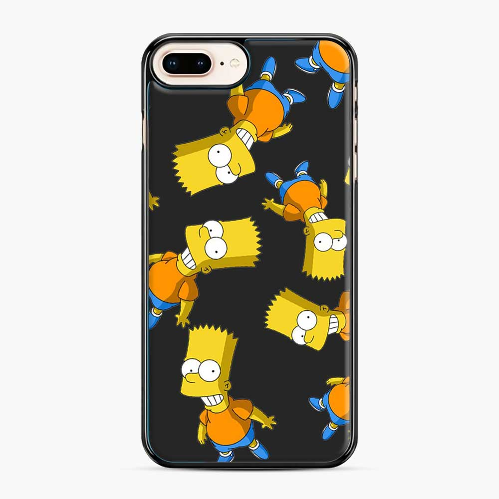 Bart Simpson iPhone 7 Plus/8 Plus Case, Black Plastic Case | Webluence.com