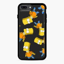 Load image into Gallery viewer, Bart Simpson iPhone 7 Plus/8 Plus Case, Black Rubber Case | Webluence.com