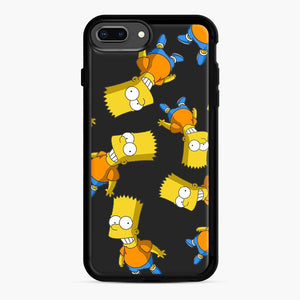 Bart Simpson iPhone 7 Plus/8 Plus Case, Black Rubber Case | Webluence.com