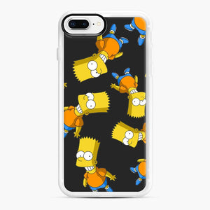 Bart Simpson iPhone 7 Plus/8 Plus Case, White Rubber Case | Webluence.com