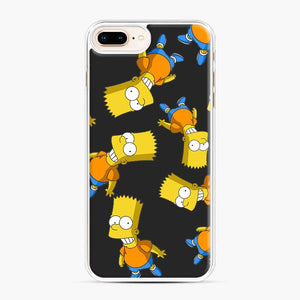 Bart Simpson iPhone 7 Plus/8 Plus Case, White Plastic Case | Webluence.com