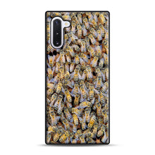 Load image into Gallery viewer, Bee Colony Samsung Galaxy Note 10 Case, Black Plastic Case | Webluence.com