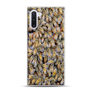 Bee Colony Samsung Galaxy Note 10 Case, White Rubber Case | Webluence.com