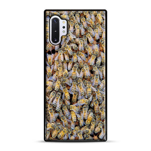 Bee Colony Samsung Galaxy Note 10 Plus Case, Black Rubber Case | Webluence.com