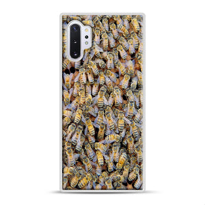 Bee Colony Samsung Galaxy Note 10 Plus Case, White Rubber Case | Webluence.com