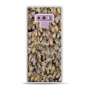 Bee Colony Samsung Galaxy Note 9 Case, White Rubber Case | Webluence.com