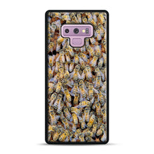 Load image into Gallery viewer, Bee Colony Samsung Galaxy Note 9 Case, Black Rubber Case | Webluence.com