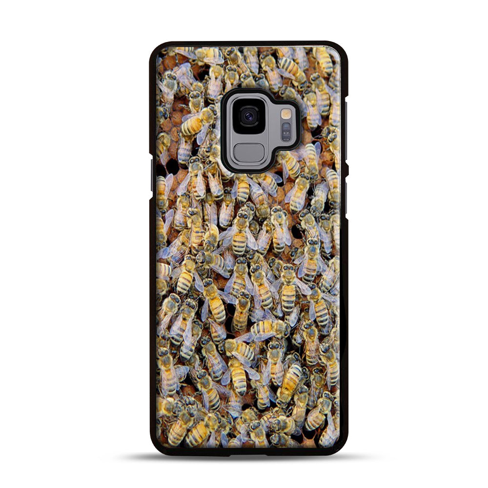 Bee Colony Samsung Galaxy S9 Case, Black Plastic Case | Webluence.com