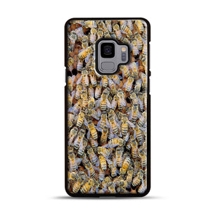 Bee Colony Samsung Galaxy S9 Case, Black Rubber Case | Webluence.com