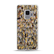 Load image into Gallery viewer, Bee Colony Samsung Galaxy S9 Case, White Rubber Case | Webluence.com