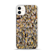 Load image into Gallery viewer, Bee Colony iPhone 11 Case.jpg, White Plastic Case | Webluence.com