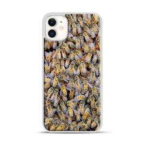 Bee Colony iPhone 11 Case.jpg, White Rubber Case | Webluence.com