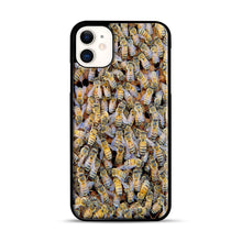 Load image into Gallery viewer, Bee Colony iPhone 11 Case.jpg, Black Plastic Case | Webluence.com