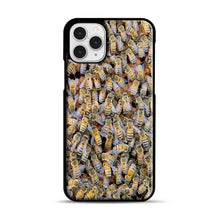 Load image into Gallery viewer, Bee Colony iPhone 11 Pro Case, Black Rubber Case | Webluence.com