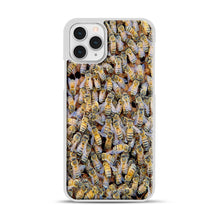 Load image into Gallery viewer, Bee Colony iPhone 11 Pro Case, White Rubber Case | Webluence.com