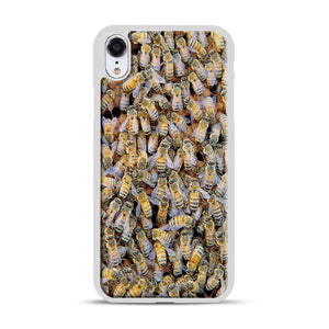 Bee Colony iPhone XR Case, White Plastic Case | Webluence.com