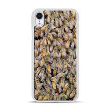 Load image into Gallery viewer, Bee Colony iPhone XR Case, White Rubber Case | Webluence.com
