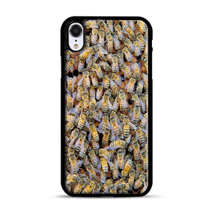 Bee Colony iPhone XR Case, Black Rubber Case | Webluence.com