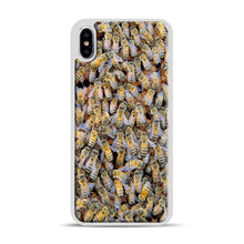 Load image into Gallery viewer, Bee Colony iPhone XS Max Case, White Rubber Case | Webluence.com