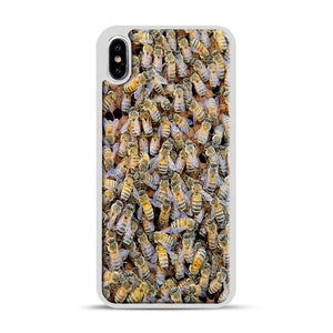 Bee Colony iPhone XS Max Case, White Rubber Case | Webluence.com