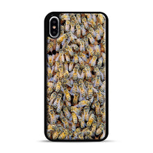 Load image into Gallery viewer, Bee Colony iPhone XS Max Case, Black Rubber Case | Webluence.com