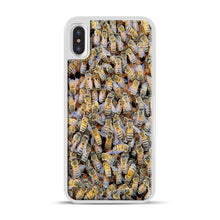 Load image into Gallery viewer, Bee Colony iPhone X/XS Case, White Rubber Case | Webluence.com