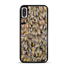 Load image into Gallery viewer, Bee Colony iPhone X/XS Case, Black Rubber Case | Webluence.com