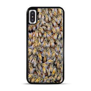 Bee Colony iPhone X/XS Case, Black Rubber Case | Webluence.com