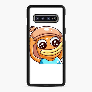 Benjyfishy Fortnite 1 Samsung Galaxy S10 Case, Black Rubber Case