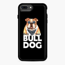 Load image into Gallery viewer, Best Bull Dog Dad iPhone 7 Plus/8 Plus Case, Black Rubber Case | Webluence.com