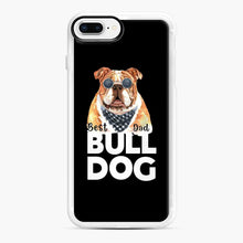 Load image into Gallery viewer, Best Bull Dog Dad iPhone 7 Plus/8 Plus Case, White Rubber Case | Webluence.com