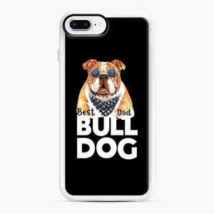 Best Bull Dog Dad iPhone 7 Plus/8 Plus Case, White Rubber Case | Webluence.com