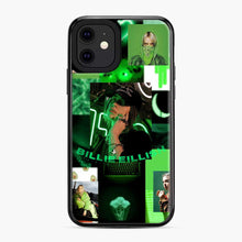 Load image into Gallery viewer, Billie Eilish Green Love Collage iPhone 11 Case, Black Plastic Case