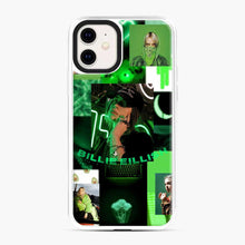 Load image into Gallery viewer, Billie Eilish Green Love Collage iPhone 11 Case, White Plastic Case