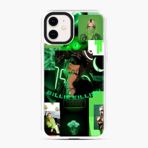 Billie Eilish Green Love Collage iPhone 11 Case, White Plastic Case