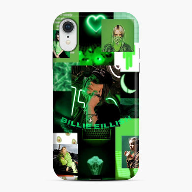 Billie Eilish Green Love Collage iPhone XR Case, Snap Case