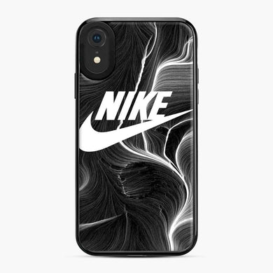 Black Nike Wallpaper iPhone XR Case, Black Plastic Case | Webluence.com