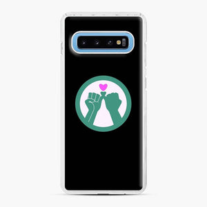 Black Owned 11 Samsung Galaxy S10 Case, White Plastic Case